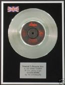 "THE STRANGLERS - 7"" Platinum Disc - GOLDEN BROWN"